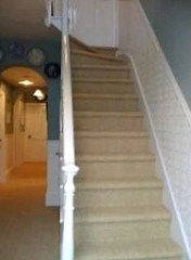 carpeted domestic hall and stairs